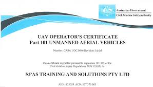 rpas training for casa remote pilot certificate or uav cc to fly