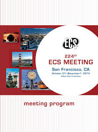 224th ecs meeting meeting program by the electrochemical society