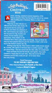 the ugly duckling u0027s christmas wish vhscollector com your