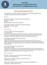 Music Teacher Resume Template Cover Letter Musician Resume Template Musician Curriculum Vitae