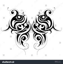 butterfly tattoo stock vector 56145691 shutterstock