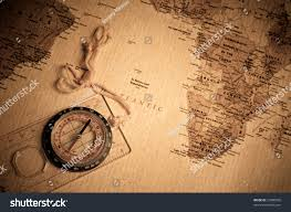 Old World Map Compass On Old World Map Stock Photo 25880506 Shutterstock
