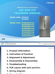 rf266ae rf263ae samsung aw sem pjt training manual pdf
