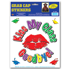 graduation cap stickers my class goodbye grad cap sticker graduation cap stickers