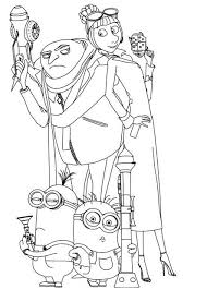 despicable coloring sheets despicable smiling minion