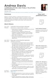 Currently Working Resume Sample by Communications Specialist Resume Samples Visualcv Resume Samples