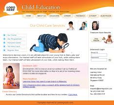 design website template for child education