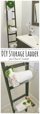 Bathroom Storage Ladder 25 Best Diy Bathroom Shelf Ideas And Designs For 2018