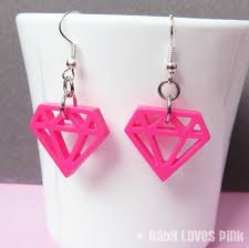 plastic earrings diamond die cut plastic earrings hot pink light pink lilac white