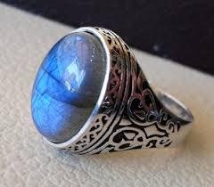 men ring flashy blue labradorite men ring sterling silver 925