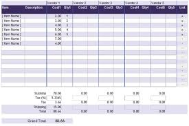Excel Costing Template 5 Cost Analysis Templates And Exles For Word Excel And Pdf