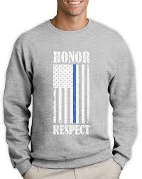 thin blue line american flag honor respect policemen gift