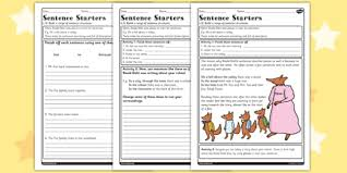 sentence starters worksheet to support teaching on fantastic mr