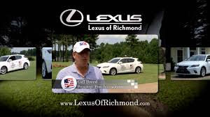 lexus of richmond parts lexus of richmond independence golf club video youtube