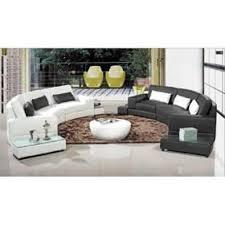 vente de canape canapé d angle arrondi cuir noir atlanta achat vente canape angle