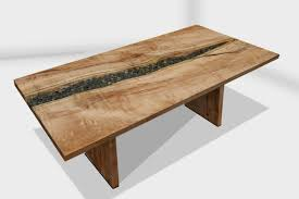 Pool Dining Table by Tide Pool Dining Table With Athabasca Wood Base