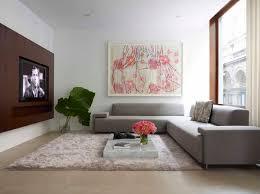 Big Wall Decor by Living Room Big Wall Decor With Abstract And White Sofa Set