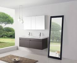 Bathroom Vanities Free Shipping by Abersoch 55 Inch Wall Mounted Double Sink Bathroom Vanity