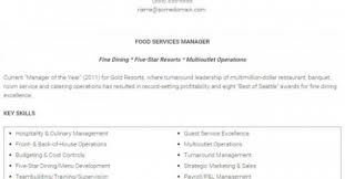 Manager Sample Resume 7 Best Restaurant Manager Resume