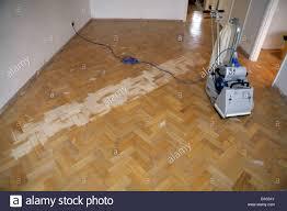 Reclaimed Oak Laminate Flooring Sanding Reclaimed Oak Parquet Flooring Stock Photo Royalty Free