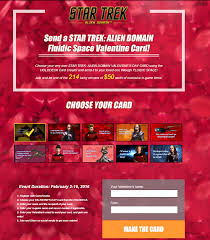 trek valentines day cards trek domain is getting all lovey dovey confident gamers