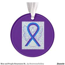custom awareness ribbons 157 best blue and purple awareness ribbon gifts images on