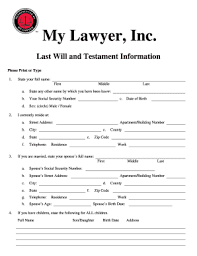 last will and testament template for single person fill print