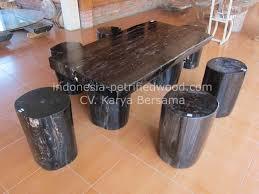11 petrified wood table set 3 petrified wood indonesia