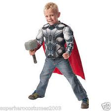 avengers age of ultron thor child muscle top hammer costume set