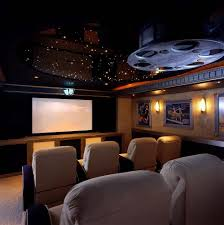 home theater decor contemporary with high gloss ceiling modern