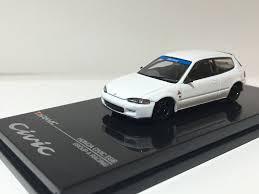 honda white car 1 64 honda civic eg6 gr a racing plain white u2013 car 79 diecast