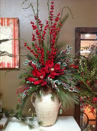 large christmas best 25 christmas floral arrangements ideas on