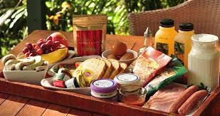 breakfast baskets creek rainforest retreat in the byron gold coast