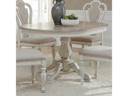 liberty furniture magnolia manor dining pedestal table with leaf