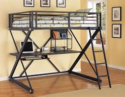 bedroom designs colorful loft beds with desk as an enhancing part