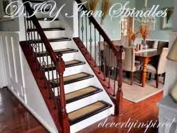 How To Refinish A Wood Banister Diy Iron Spindles Staircase Remodel Youtube