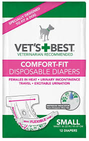 How To Comfort A Cat In Heat Amazon Com Vet U0027s Best 12 Count Comfort Fit Disposable Female Dog