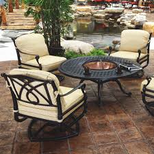 Patio Seating Ideas Outdoor Furniture With Fire Pit Table Outdoorlivingdecor