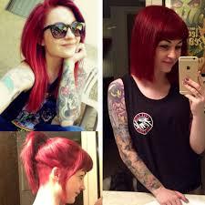 undercut bob long mermaid hair to a short bob with bangs and an undercut hair