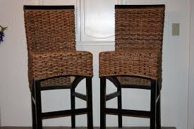 furniture dining room seagrass bar stools with wood table and