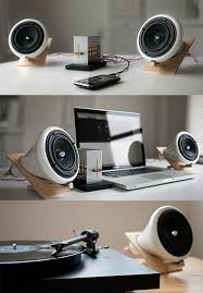 cool looking speakers i thought how they made the speaker stand was very interesting