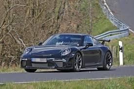 porsche test driver accelerates in 2017 911 gt3 facelift