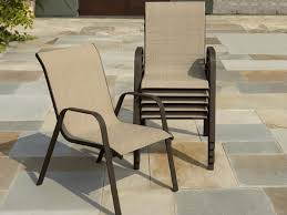 Caluco Patio Furniture Impressive Sling Back Patio Chairs With Outdoor Patio Dining Set