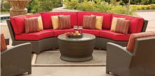 Curved Patio Sofa San Lucas Outdoor Wicker Armless Curved Sofa For The Home