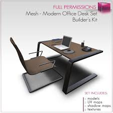 Modern Desk Set Second Marketplace Perm Mesh Modern Office Desk Set