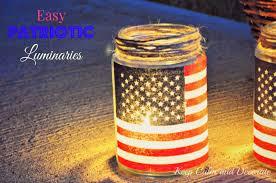 keep calm and decorate easy patriotic luminaries