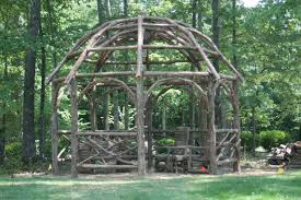made by nature arbors rustic dome roof pergola octagonal 12