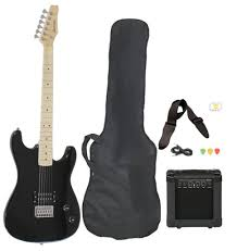 best guitar deals black friday 2016 amazon com full size black electric guitar with amp case and