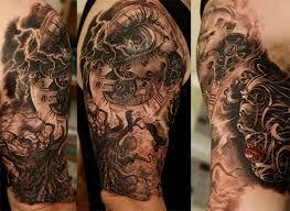 tattoo 3d mechanical 3d mechanical tattoo on half sleeve