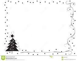 decorative frame border with christmas tree and stars stock